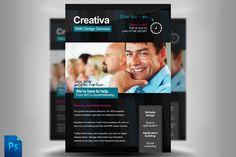 Creativa Web Designer Flyer Template by Quickandeasy on @creativemarket