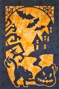 Halloween applique quilt pattern