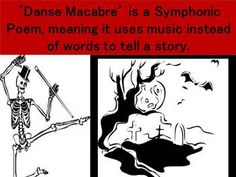 DANSE MACABRE  A 20 slide PowerPoint PLUS Audio clips and worksheets.  Aimed at students in Grades 5-7