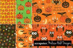 Hand Drawn Halloween Patterns by scrapster on Creative Market
