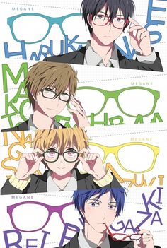 Tags: Anime, Eunram, Free!, Ryugazaki Rei, Nanase Haruka (Free!), Tachibana Makoto, Hazuki Nagisa