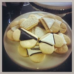 Lingerie inspired sugar cookies for a Black & White Bridal Shower
