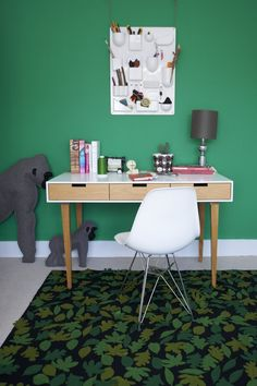 Rectangular writing desk with drawers WRITING #DESK by Design by nico   #design Nicolette de Waart