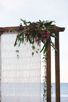 Lovestruck Weddings - Twine Magazine - Wooden Arbour with Macrame Curtain
