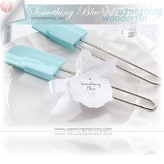"Something Blue "" Silicon Kitchen Spatula Favors Gifts - 76% OFF - 13045BL - Cheap Wedding Favors - Cheap Bridal Shower Favors - Cheap Party Favors - http://www.warmimpressions.com/WEDDING_FAVORS/Something-Blue-Silicon-Kitchen-Spatula-Kate-Aspen-Favors-13045BL.html"