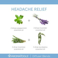 Headache relief without having to put it on yourself.   Here's a great diffuser blend to try