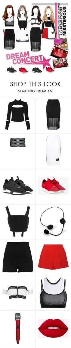 """«MISSTERIOUS, DREAM CONCERT»"" by cw-entertainment ❤ liked on Polyvore featuring P.E Nation, Balenciaga, David Koma, River Island and Alice + Olivia"