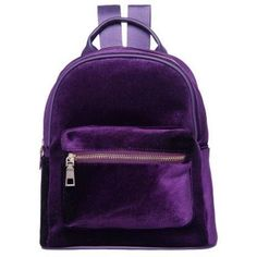 "VELVET ZIPPER BACKPACK Use coupon ""ITPIN"" to get 10% OFF entire order - 419b277177197"