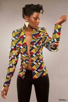 african print jacket wax modern style. www.mansaya.com  49 rue león frot - 75011 Paris