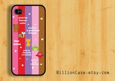 Five Animal of Love -  iPhone 5 4 / 4s Galaxy Case Hard Plastic Case Rubber Case. $15.99, via Etsy.