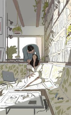 The meaning of love through the exceptional Sketches of Pascal Campion Art Image Couple, Couple Art, Couple Illustration, Illustration Art, Claudia Rodriguez, Pascal Campion, Illustrations And Posters, American Artists, Amazing Art