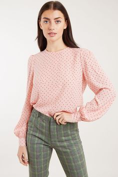 Louche Lima Coeur Print Long Sleeve Blouse - Joy the Store New Outfits, Fashion Outfits, Womens Fashion, Lima, Joy The Store, Blouse, Fashion Online, Knitwear, Women Wear