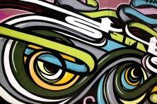 Abstract graffiti Wall Mural