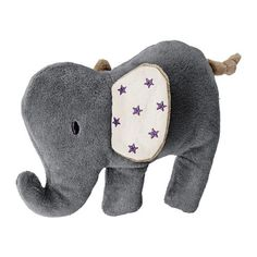 CHARMTROLL Soft toy IKEA The elephant squeaks when squeezed, stimulating your baby's hearing.