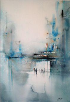 Aitor Renteria impressionist water color