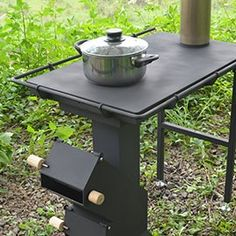 柴燒烹煮小平台 — 多功能火箭爐