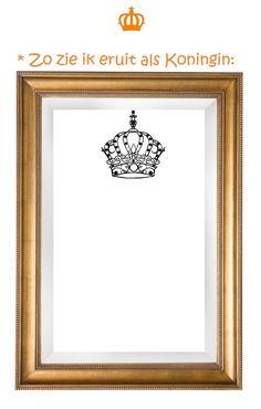 Afbeeldingsresultaat voor teken jezelf als koning of koningin Kings Day, Button Art, Classroom Themes, Primary School, Preschool, Arts And Crafts, Teaching, Frame, Kids