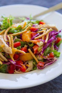 Crunchy, fresh, healthy!! Love this Chinese Chicken Salad! #laurenslatest #chinesechickensalad