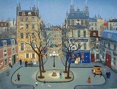 La Place de Furstenberg, Ltd Ed Lithograph, Michel Delacroix – Art Commerce