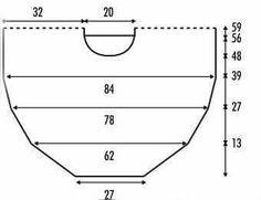 Gráfico poncho dos agujas