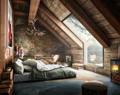 What you think about rustic style for bedroom? Project by Fernando Morrisoniesko #d_signers --- #design #designer #instahome #instadesign #architect #beautiful #home #homedesign #idea #art #architecture #interiordesign #exterior #interior #luxury #lighting #bedroom #decoration #decor #bed #follow #loft #wood