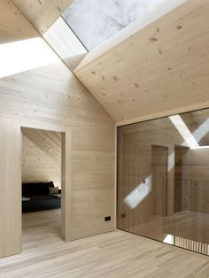 Modern cottage situated in Bludenz, Austria, designed in 2016 by Architekten Innauer Matt. Larch Cladding, Architecture Design, Modern Cottage, Wood Interiors, Home Decor Bedroom, Modern Interior Design, Cabana, Interior Decorating, House Ideas