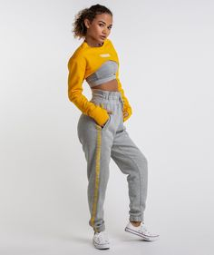 73f8971e5d8cb1 Gymshark Super Cropped Sweater - Citrus Yellow 1 Yellow Sweater