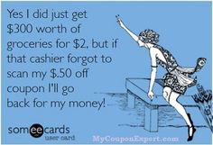 You might be a coupon freak if...