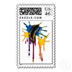 Imaginations Flight Postage Stamps by Nora Blansett/Borealis Art @ http://www.zazzle.com/BorealisArt*/