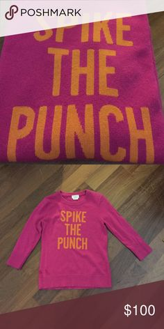 KATE SPADE SPIKE THE PUNCH SWEATER Wool and cashmere blend- worn a couple of times kate spade Sweaters Crew & Scoop Necks