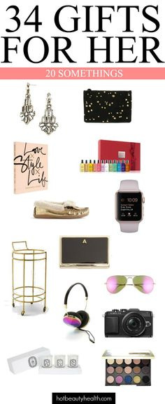 The perfect gifts for her: For the 20-somethings this Christmas.   Easy gift ideas for Wife, Sister, Aunts, Daughter, young adults, and friends!