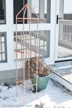 DIY Copper Trellis Tutorial-would make beautiful tomato cages