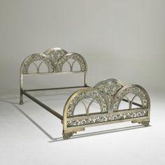 Gorgeous art deco bed frame.