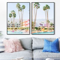 Tropical Banana Trees Wall Art Swimming Pool Canvas Painting Colorful Print Posters and Prints Bathroom Kitchen Room Decoration Bathroom Wall Art, Kitchen Wall Art, Room Kitchen, Poster Wall, Poster Prints, Posters, Tree Wall Art, Home Decor Wall Art, Wall Canvas