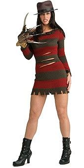 The A Nightmare On Elm Street Sexy Ms. Freddy Krueger Costume is the best 2019 Halloween costume for you to get! Everyone will love this Womens costume that you picked up from Wholesale Halloween Costumes! Costume Halloween, Freddy Krueger Halloween Costume, Freddy Costume, Halloween Fancy Dress, Adult Halloween, Women Halloween, Halloween Horror, Halloween Night, Spirit Halloween