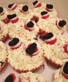 Upside Down Santa's Christmas Cupcakes