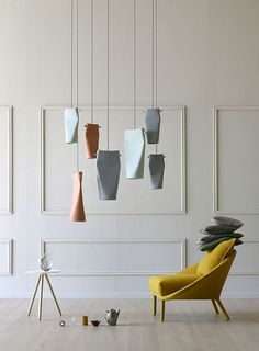 """Cute  Squeezing Tube Pendant Lighting  #Concept #Design #Handmade #Recycled #Steel #Tube          The starting point for many of our projects is manufacturing methods and materials. In the case of the """"Dent"""" lamps this experim..."""