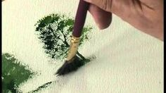 The Fan Brush or Stippler. The Terry Harrison Brush Collection. The Fan Brush or Watercolor Video, Watercolor Trees, Watercolour Tutorials, Watercolour Painting, Painting & Drawing, Watercolours, Painting Videos, Painting Lessons, Painting Tips