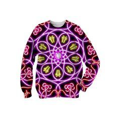 : Convergence II : Sweatshirt from Print All Over Me  /  #printalloverme #fantasymall #onlinemall   #fantasygifts #fantasyshopping #CorianderShea #mandala