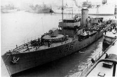 """Hero of Convoy WS5A, the Flower Class corvette HMS """"Clematis"""" K36 (1940-1949)."""