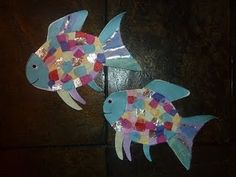 Cute rainbow fish craft you could do after reading the book.... swimming into summer :)