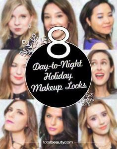 Give your daytime makeup a festive upgrade with these easy-to-copy holiday looks.