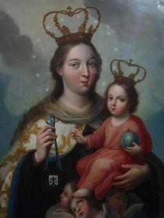 Virgen del Carmen, José de Páez, Museo Andrés Blaisten, Cdad. de México, D.F