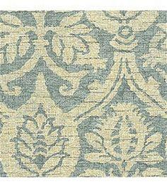Home Decor Fabric-Waverly Romantic Overtures Damask Duet Robin's Egg