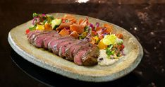 Sonya and Hadil - Chargrilled Lamb with Moutabel and Fattoush Salad Fatoush Salad, My Kitchen Rules, Microwave Cake, Latest Recipe, Middle Eastern Recipes, Barbecue, Lamb, Salads, Tasty