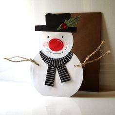 The Christmas crafting Collection. Find the 20 beautiful handmade Christmas cards 2018 you make at home. Beautiful handmade gifts and craft ideas in UK. Homemade Christmas, Christmas Snowman, Christmas Ornaments, Snowman Cards, Christmas Inspiration, Christmas Crafts, Christmas 2014, Christmas Ideas, Merry Christmas