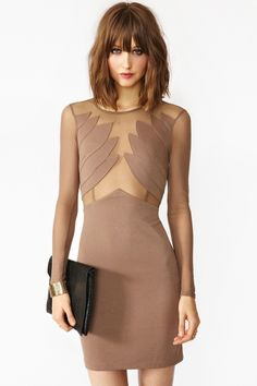 Winged Mesh Dress in Clothes Dresses at Nasty Gal