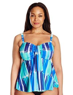 Fit 4 U Women's Plus-Size Plus Size Seaport Microfiber Waterfall Bandeau Tankini Top  http://www.effyourbeautystandarts.com/fit-4-u-womens-plus-size-plus-size-seaport-microfiber-waterfall-bandeau-tankini-top/