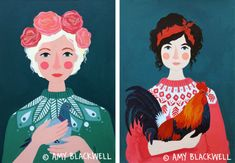 Beautiful portraits by Amy Blackwell, posted on the blog today: http://www.artisticmoods.com/amy-blackwell-2/
