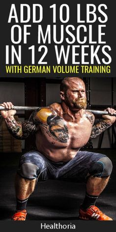 Build Muscle With German Volume Training Build Muscle With German Volume Training ,Workouts Add 10 pounds of muscle in 12 weeks with German Volume Training. Proven muscle building program used by Olympic athletes. Pilates Training, Weight Training Workouts, Gym Workouts, Chest Workouts, Workout Routines, Muscle Building Program, Muscle Building Workouts, Mass Building, Gain Muscle